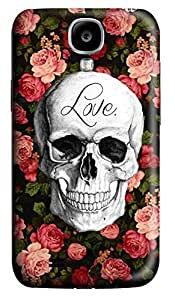 S4 Case, Samsung S4 Case, Customized Protective Samsung Galaxy S4 Hard 3D Cases - Personalized Love Skull Cover