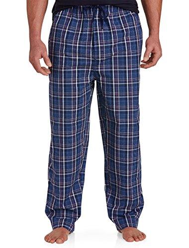 Harbor Bay by DXL Big and Tall Poplin Lounge Pants Navy (Mens Tall Pajama Pants)
