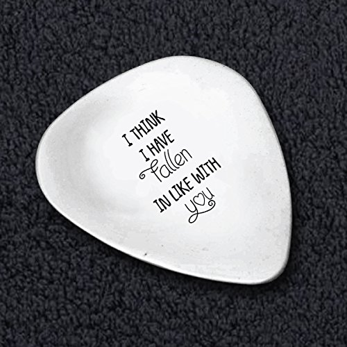 I Think I have Fallen In Love With You Guitar Pick- Funny Romantic Quote - Custom Valentine Gift Idea - Personalized Guitar Picks Idea