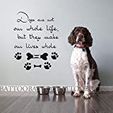 """BATTOO Wall Decals Dogs are not our whole Life Quote Decal Vinyl Sticker Dog Room Grooming Salon Pet Shop Wall Art Decor(color1, 20.5""""h x16""""w)"""