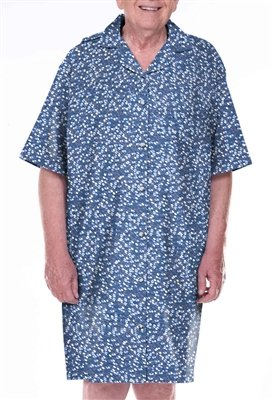 Home Care Line Dignity pajamas Mens Cotton Short sleeve open back hospice pajamas Sz L-XL by Dignity Pajamas