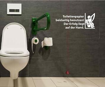Toiletten Spruch Aufkleber Wandtattoo Badezimmer Wc Bad