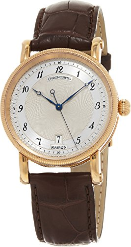 Chronoswiss Kairos Men's Silver Dial Brown Leather Strap Rose Gold Automatic Swiss Watch CH-2821KR