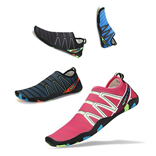 Shoes Sen Womens Walking Pool Quick Aqua YR Running Beach Mens Shoes Red Dry Socks Barefoot Water Sports Swim for B7xqBwFr