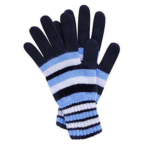 Women's Stripe Cashmere Gloves Made in Scotland (Blues (5))