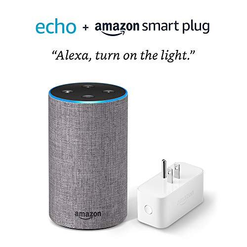 Echo (2nd Generation) with Amazon Smart Plug- Heather Gray Fabric