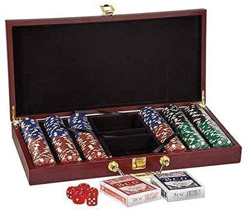 Poker party set including dice and cards in gift box poker chip -