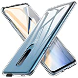 Oneplus 7 Pro Case, AINOYA Crystal Clear Soft TPU Bumper [Shock Absorption Technology] [Drop Cushion] Raised Bezels Slim Protective Cover for Oneplus 7 Pro (Transparent)