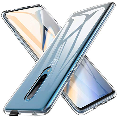 Oneplus 7 Pro Case, AINOYA Crystal Clear Soft TPU Bumper [Shock Absorption Technology] [Drop Cushion] Raised Bezels Slim Protective Cover for Oneplus 7 Pro ()