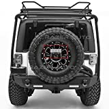 Razer Auto Rock Crawler Clear Lens 3rd Brake Taillight Tail LED light w/Rear Spare Tire Bracket Mount (Chrome) for 07-17 Jeep JK Wrangler