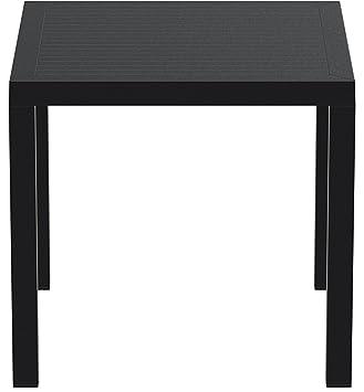 Resol Arctic - Table, Plastique 80 x 80 x 75 cm Noir: Amazon ...