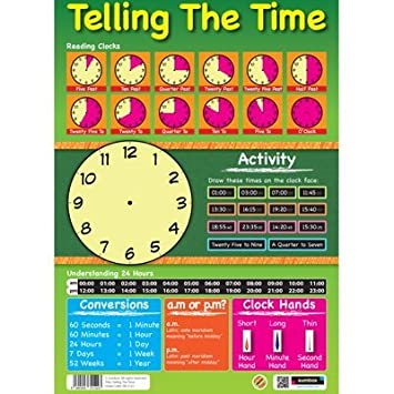 Sumbox Telling the Time Write On Activities Educational Poster ...