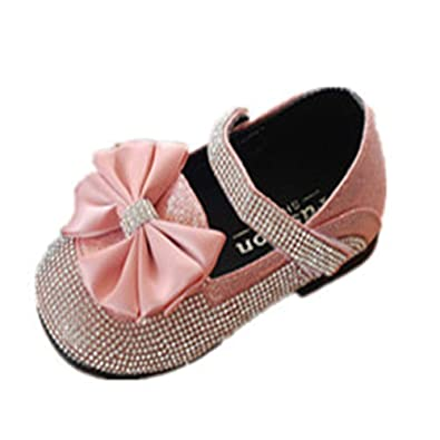 Pink 33//1.5 M US Boys Girls Girls Dress Shoes Cute Flat Shoes Baby Toddler Shoes Mary Jane Shoes