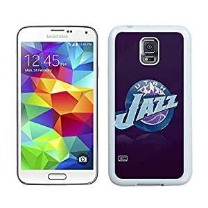 Utah Jazz Logo White Samsung Galaxy S5 Screen Cover Case Newest and Fashion Design