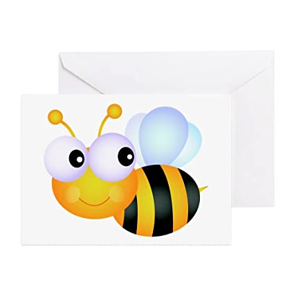 Amazon cafepress cute cartoon bumble bee greeting card cafepress cute cartoon bumble bee greeting card note card birthday card m4hsunfo