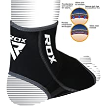 RDX Neoprene Ankle Brace Foot Guard MMA Pad Protector Achilles Tendon Pain Support (SOLD AS SINGLE ITEM)