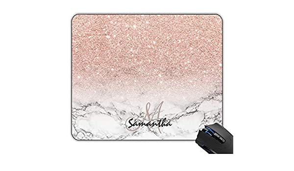 OTTIET Custom Pink Ribbon Breast Cancer Awareness Gaming Mouse Pad 9.5 X 7.9 Inch 240mmX200mmX2mm .Non-Slip Thick Rubber Large Mousepad.