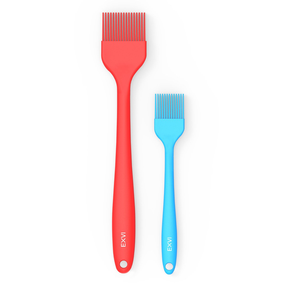 EXVI Heat Resistant 500℉ Silicone Basting & Pastry Brush pack of 2 Totally Safe BPA Free (1x 8