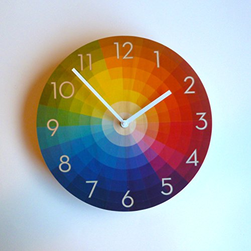 Color Wheel with Numerals Wall Clock