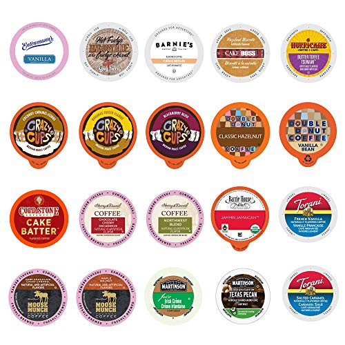 20-count Flavored Coffee Variety Sampler, Single-serve Coffee for Keurig K-cup Brewers