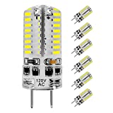 KINDEEP G8 LED Bulb Dimmable, 3W (20W-30W Halogen Replacement), Daylight White 6000K, AC 110-130V, 6-Pack for Under Cabinet Light
