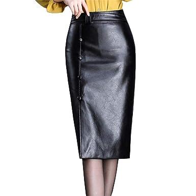 Valin VD6338 - Falda de tulipán para Mujer, de Piel sintética ...
