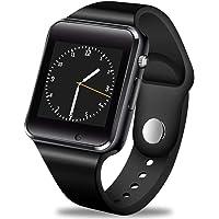 GBVFCDRT Hombres Mujeres Reloj Smart Watch Bluetooth Soporte Tarjeta Sim Deporte Podómetro Reproductor de música Smartwatch para Android iOS