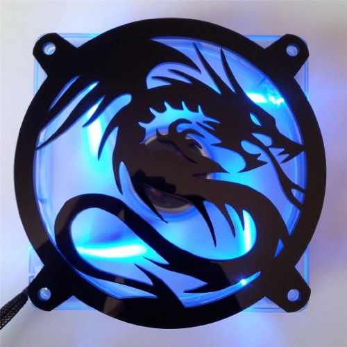 Custom Acrylic Flying Dragon Computer Fan Grill 92mm