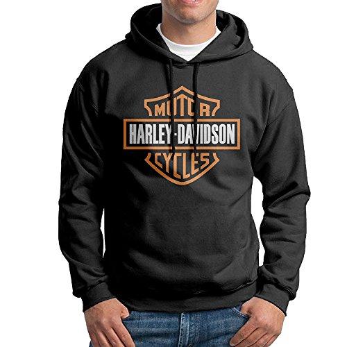 Harley Davidson Motor Logo Black Pullover Hoodie