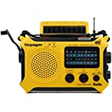 Kaito KA500 5-way Powered Solar Power,Dynamo Crank, Wind Up Emergency AM/FM/SW/NOAA Weather Alert Radio with Flashlight,Reading Lamp and Cellphone Charger, Yellow