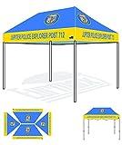Eurmax Canopy Digital Print Custom Canopy Ez Pop Up Commercial Canopy Fair Tent (10×15) Review