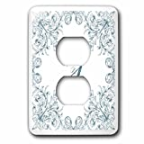 3dRose Uta Naumann Personal Monogram Initials - Letter J Personal Luxury Vintage Glitter Monogram-Personalized Initial - Light Switch Covers - 2 plug outlet cover (lsp_275309_6)