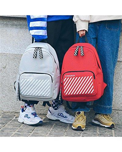 Teenager Mädchen Jungen Unisex Nylon Schultasche Rucksäcke Kühlen Sport Rucksack Laptoptasche College Valentines Studenten Casual Daypacks (Schwarz) K-Rot s1Jooi7