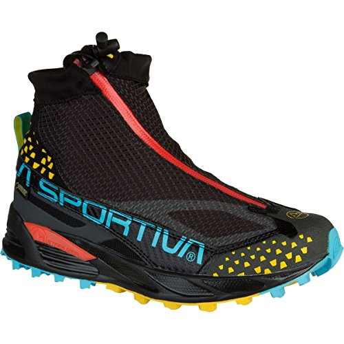 La Sportiva Crossover 2.0 GTX Waterproof Mountain Running Shoe for Women, Black / Malibu Blue, 40 M EU