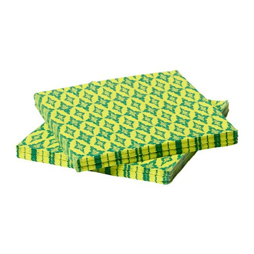 Blue-Mango Paper napkins, yellow, green, made of recycled paper (paper), thickness 3, absorbed well for a Tea Party (30 - Center Shopping Twelve Oaks