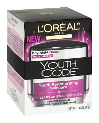 L'Oreal Youth Code Day/Night Cream Moisturizer, 1.6 FZ (Pack of 3)