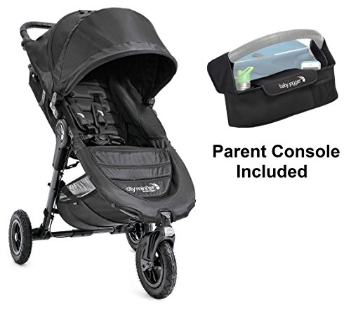 Baby Jogger 2016 City Mini GT Stroller in Black with Parent Console by Baby Jogger