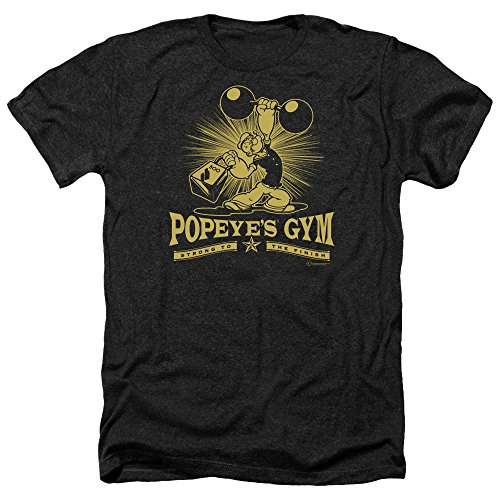 MMM Merchandising Popeye Mens Popeyes Gym Heather T-Shirt, XX-Large, - Popeyes Gym