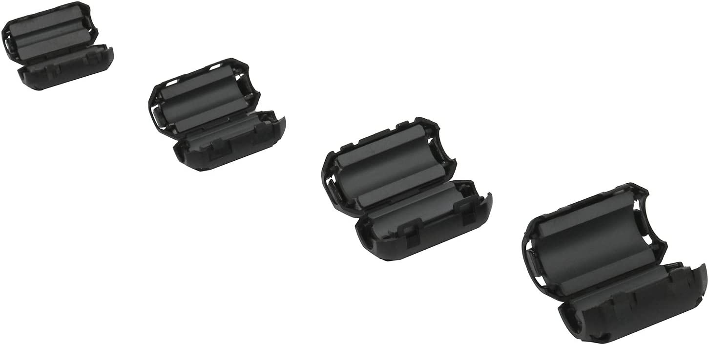 50PCS RFI EMI Noise Suppressor Cable Filter Clips for 3.5mm// 5mm// 7mm// 9mm// 13mm Cable