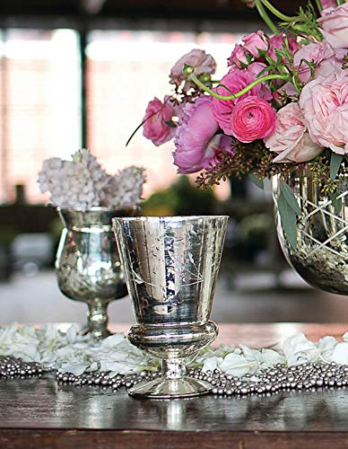 Richland Mercury Vase Glass Tapered 6.75