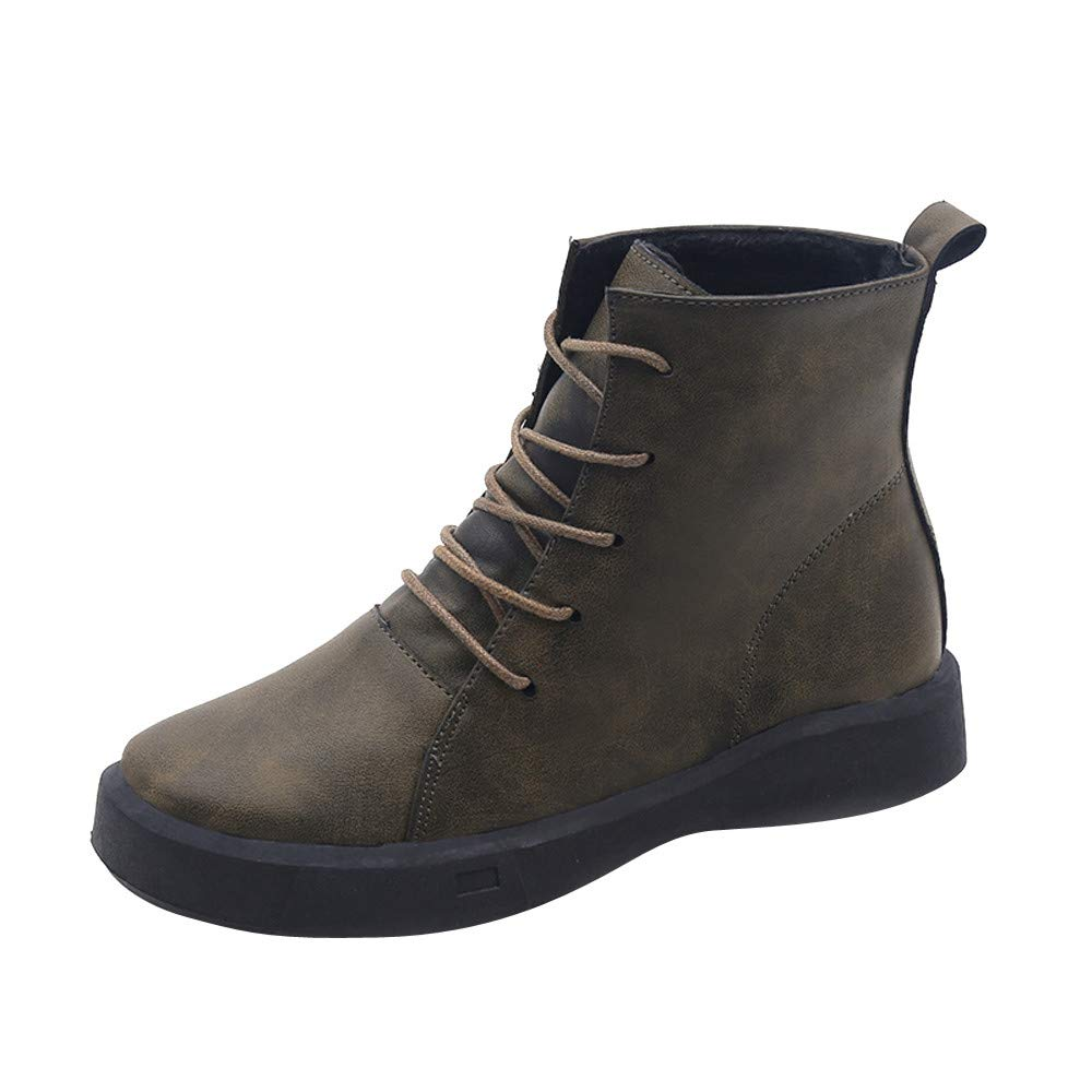 AgrinTol_Women Shose Women¡¯s Booties,Clearance!AgrinTol Flat Non-Slip Round Toe Low Cylinder High Help Martin Boots