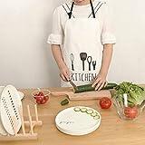 Lqchl Brief Style Cooking Apron Kiss Women Men Kitchen Apron Commercial Restaurant Home Adult Kitchen Apron Bib Black White Striped,White