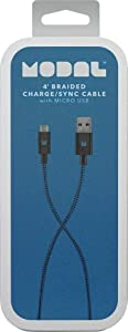Modal 4' Braided Lightning Cable Blue