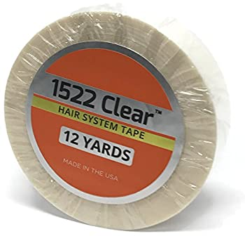 "Clear 3/4"" x 12 Yard Roll Toupee Tape by 100% AUTHENTIC 3M Clear mfg. by Walker Tape, Co."