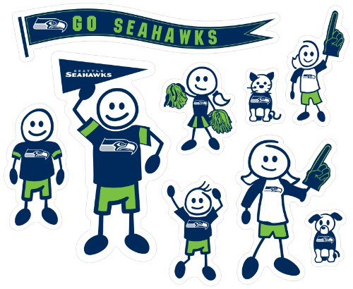 Family Window Decal (NFL Seattle Seahawks Large Family Decal)