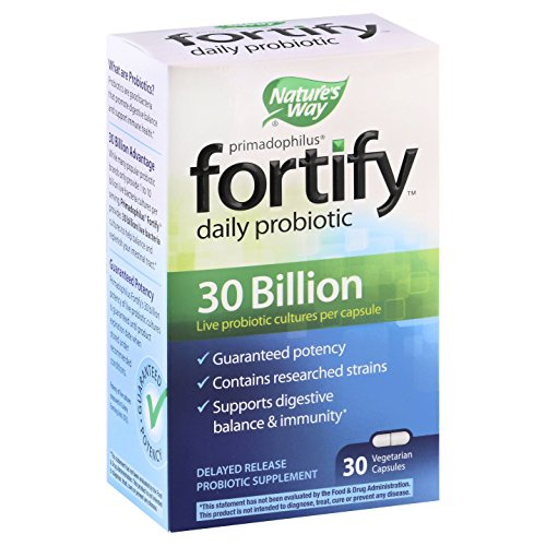 Nature's Way Fortify Daily Probiotic Supplement, Vegetarian , 30 count (6 Pack) by Nature's Way