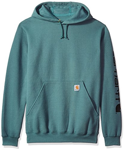 Carhartt Mens Signature Sleeve Logo Midweight Hooded Sweatshirt