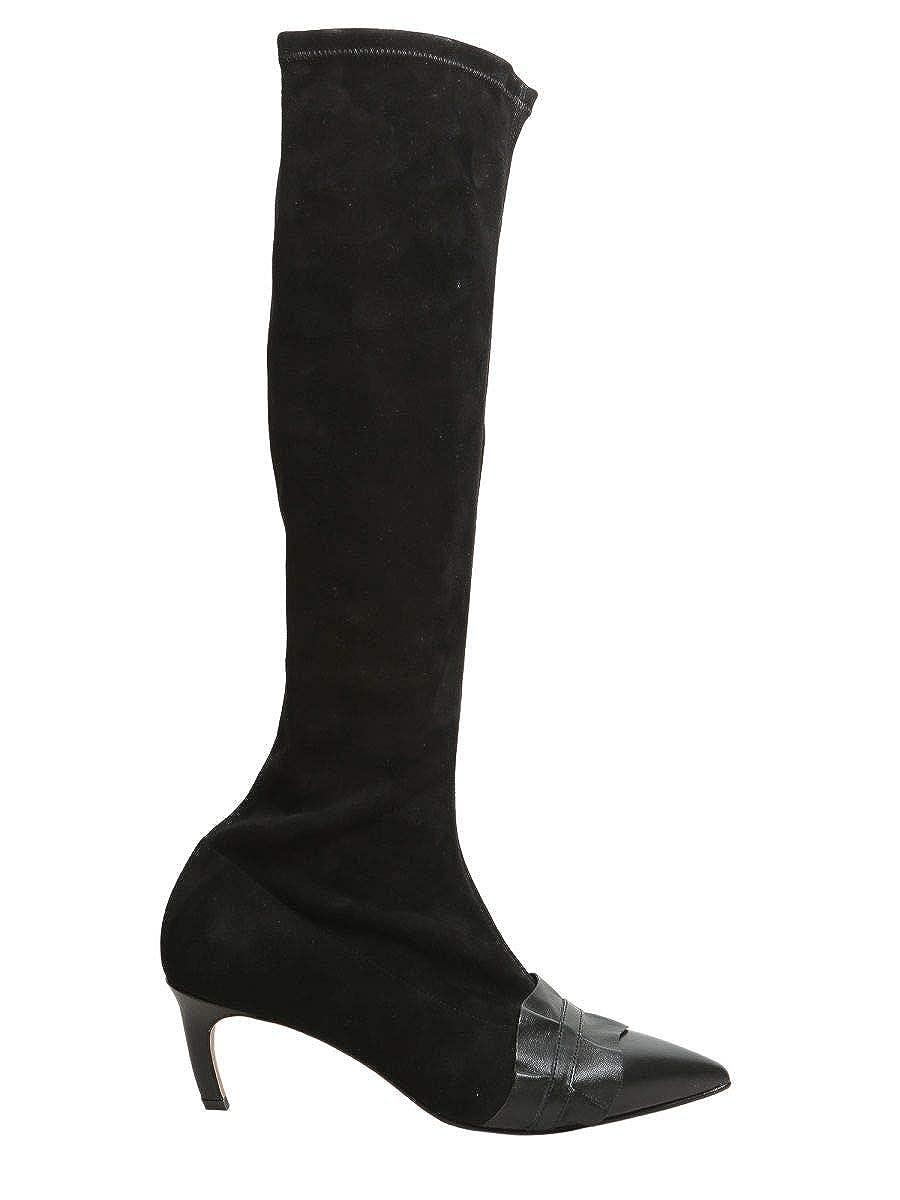 - Red Valentino Women's QQ2S0B26DWJONO Black Suede Boots