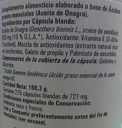 Aceite de Onagra 500mg | Para la salud del corazón y el equilibrio hormonal | 275 perlas, cabello uña y pìel: Amazon.es: Salud y cuidado personal
