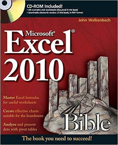 Amazon.com: Excel 2010 Bible (9780470474877): John Walkenbach: Books